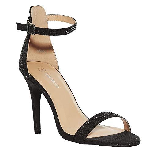 Amazon.com | shoewhatever Women's Elegant Dressy Ankle Strap Heeled