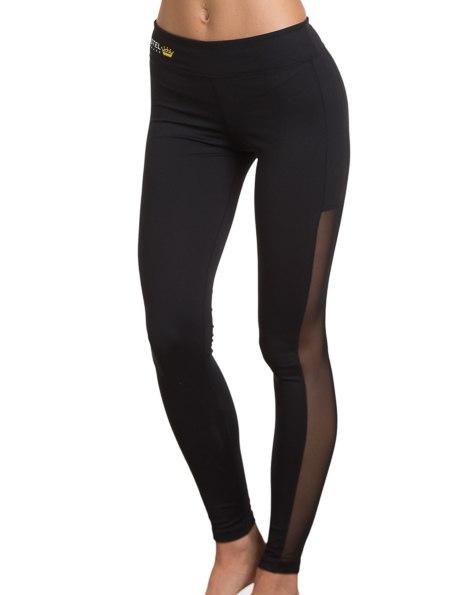 Charlotte Athletic Pants Black with Black Trim - kasteldenmark.com