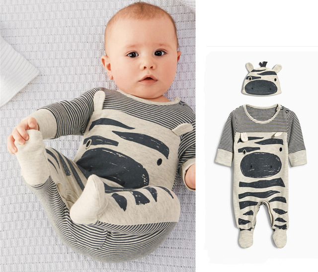 2018 Hot selling Baby Clothing Baby Boy Romper Cartoon Cotton Long