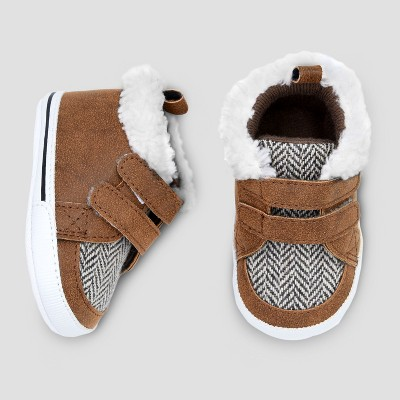 Baby Boys' High Top Hiker Crib Shoes - Cat & Jack™ Brown : Target