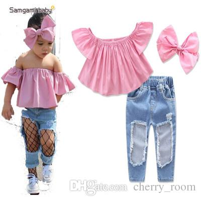 7 Styles For Choose Fashion Baby Girls Outfit Sets Children Clothes
