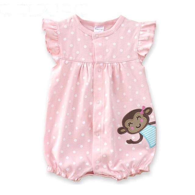 Baby Rompers 2018 Summer Cotton Baby Girl Clothes Newborn Baby