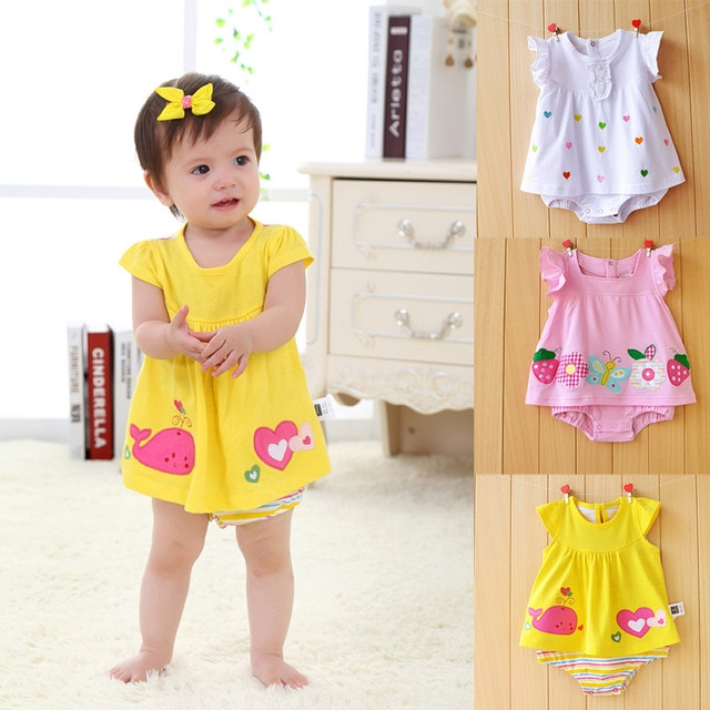 New Born Baby Girl Clothes 2018 Baby Girls Clothing Floral Print