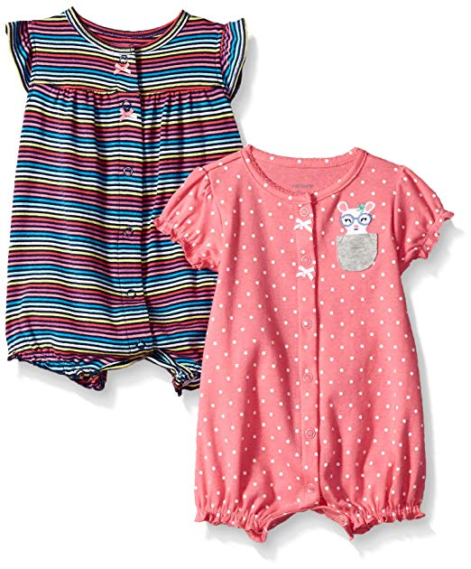 Amazon.com: Carter's Baby Girls' 2-Pack Romper: Clothing