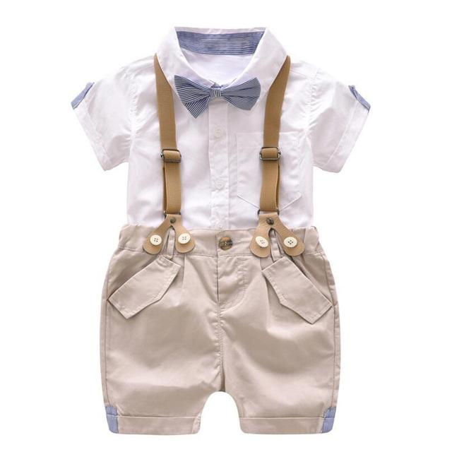 Toddler Boys Clothing Set Summer Baby Suit Shorts Shirt 1 2 3 4 Year
