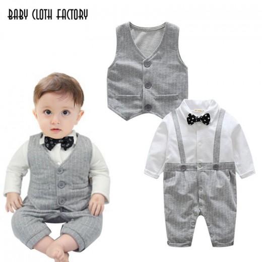 Buy Autumn Fashion Baby boy clothes sets newborn Gentleman Cotton