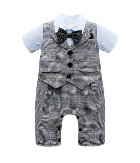 Cute Baby Boy Rompers Newborn Gentleman Suits Infant Clothes Kids