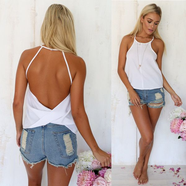 Casual backless tops are one of the most broadly demanded types of
