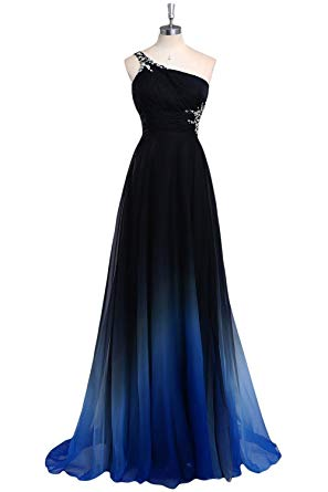 Amazon.com: HEIMO Women's Gradient Color Beaded Prom Dresses Chiffon