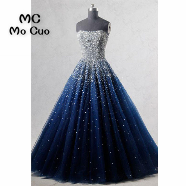 Ball Gown Elegant Prom dresses Long with Beaded Sweetheart Tulle