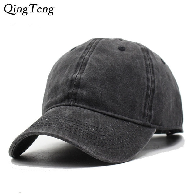 Solid Blank Men Cap Baseball Hat Women Strapback Denim Cloth Cap