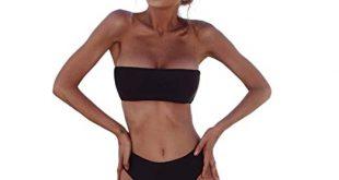 Amazon.com: Challyhope Women Bathing Suit 2PCS Bikini Strapless