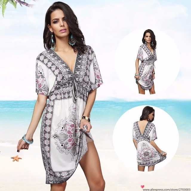 732d800b83a Summer Palace Sexy Women Cover Up Large Plus Size Beach Dress