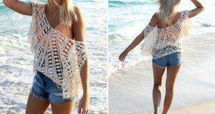 Summer Beachwear Casual Hollow Lace Crochet Swimsuit Bikini Cover Up