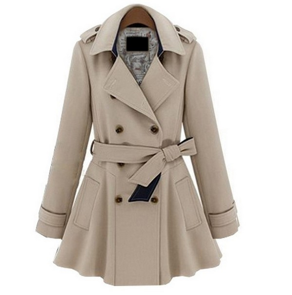 Plus Coats Women Jackets Slim Blue Beige Fashion Coat S M L Xl on Luulla