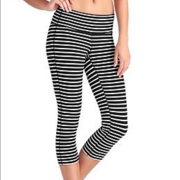 Athleta Pants | Black And White Striped Leggings Size S | Poshmark