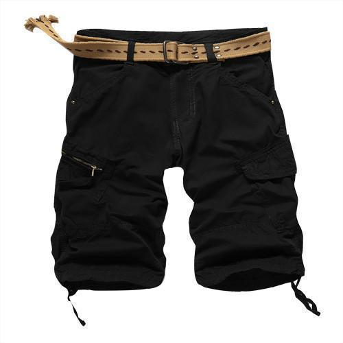 Men Casual Shorts Loose Cargo Shorts Black, Blue, Green, Khaki, Plus