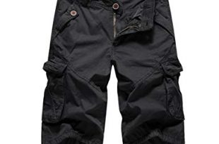 Clearance! OVERMAL Cargo Shorts for Men Casual Pocket Beach Work