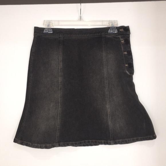Marc Jacobs Skirts | Black Denim Skirt Size 2 | Poshmark
