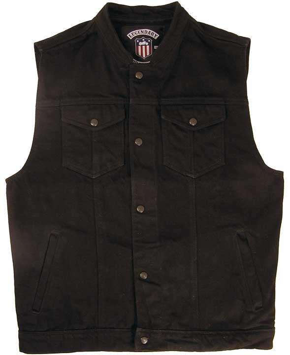 Black denim vests gives you a   smart look