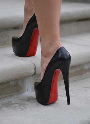 BLACK HEELS WITH RED SOLES on The Hunt