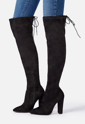Women's Black Knee High Boots On Sale - 50% Off Your 1st Order!