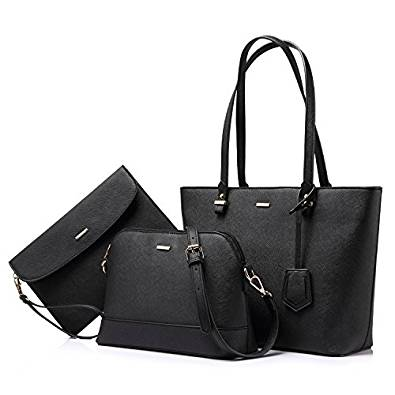 Amazon.com: Handbags for Women Shoulder Bags Tote Satchel Hobo 3pcs