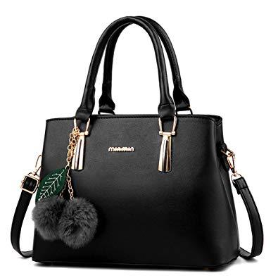 Amazon.com: Dreubea Women's Leather Handbag Tote Shoulder Bag