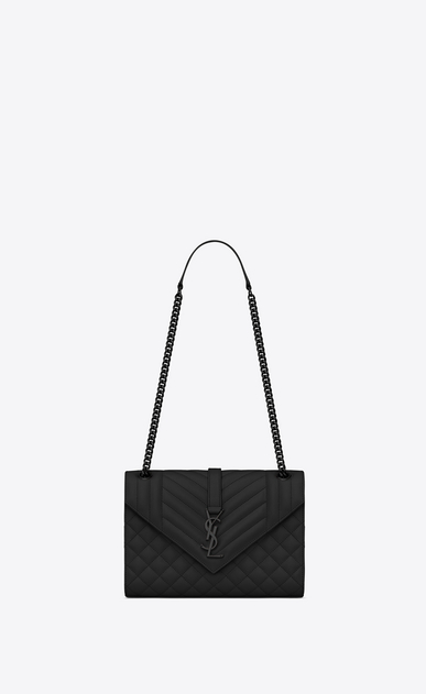 Saint Laurent Envelope Medium Bag In Grain De Poudre Embossed