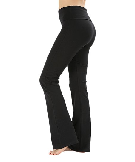 Active USA Black Flare Yoga Pants - Women | Zulily