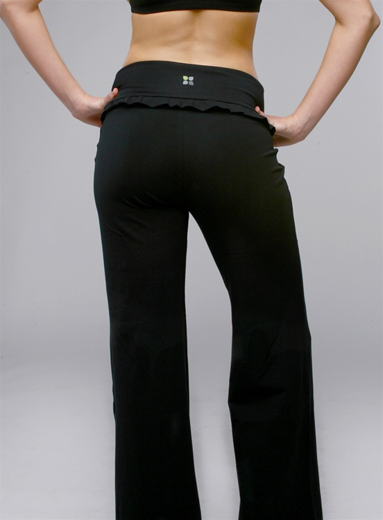 Yoga Pant with a flared leg. Yoga City non-sheer yoga pants