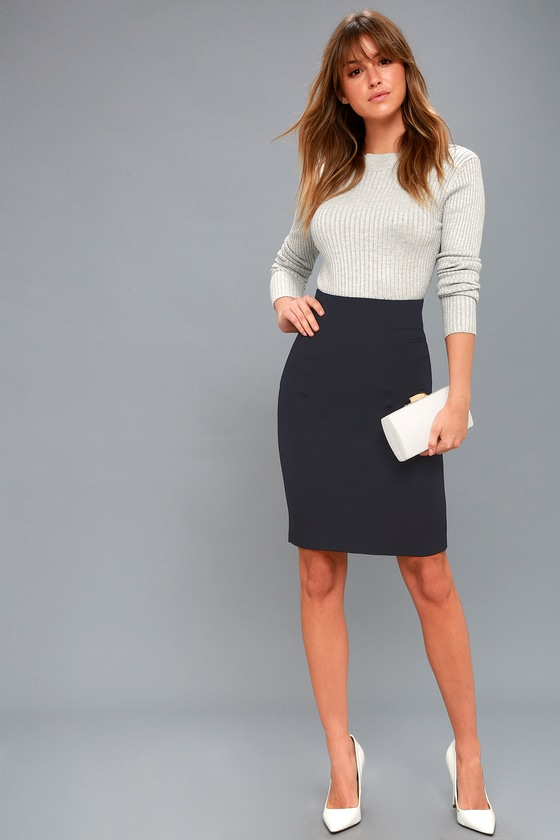 Get admired with Blue Pencil   Skirts
