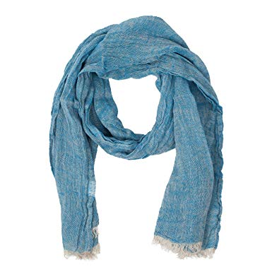 Blue Scarf | 100% Linen Scarf | Scarves For Women | Mens Scarf