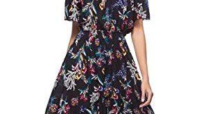 MCEDAR Women's Maxi Causal Bohemian Dress Floral Print Off Shoulder