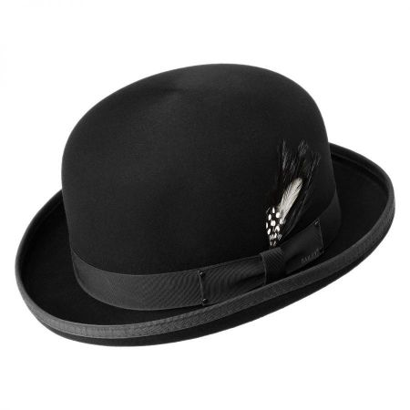 Black Bowler Hat at Village Hat Shop