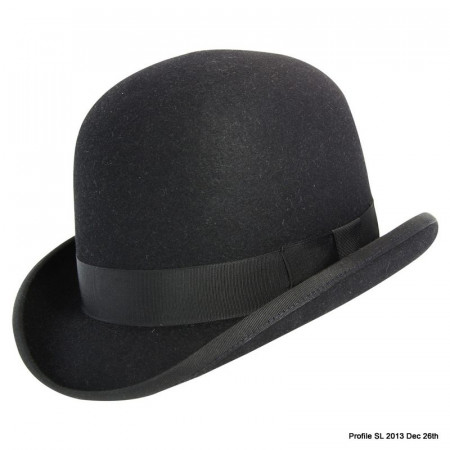 Akubra Bowler Hat - Black - Made To Order