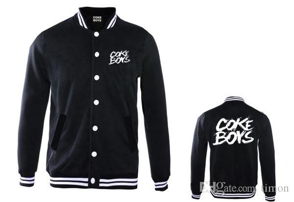 New Coke Boys Jackets Hip Hop Clothing For Sale Thick Baseball Coats