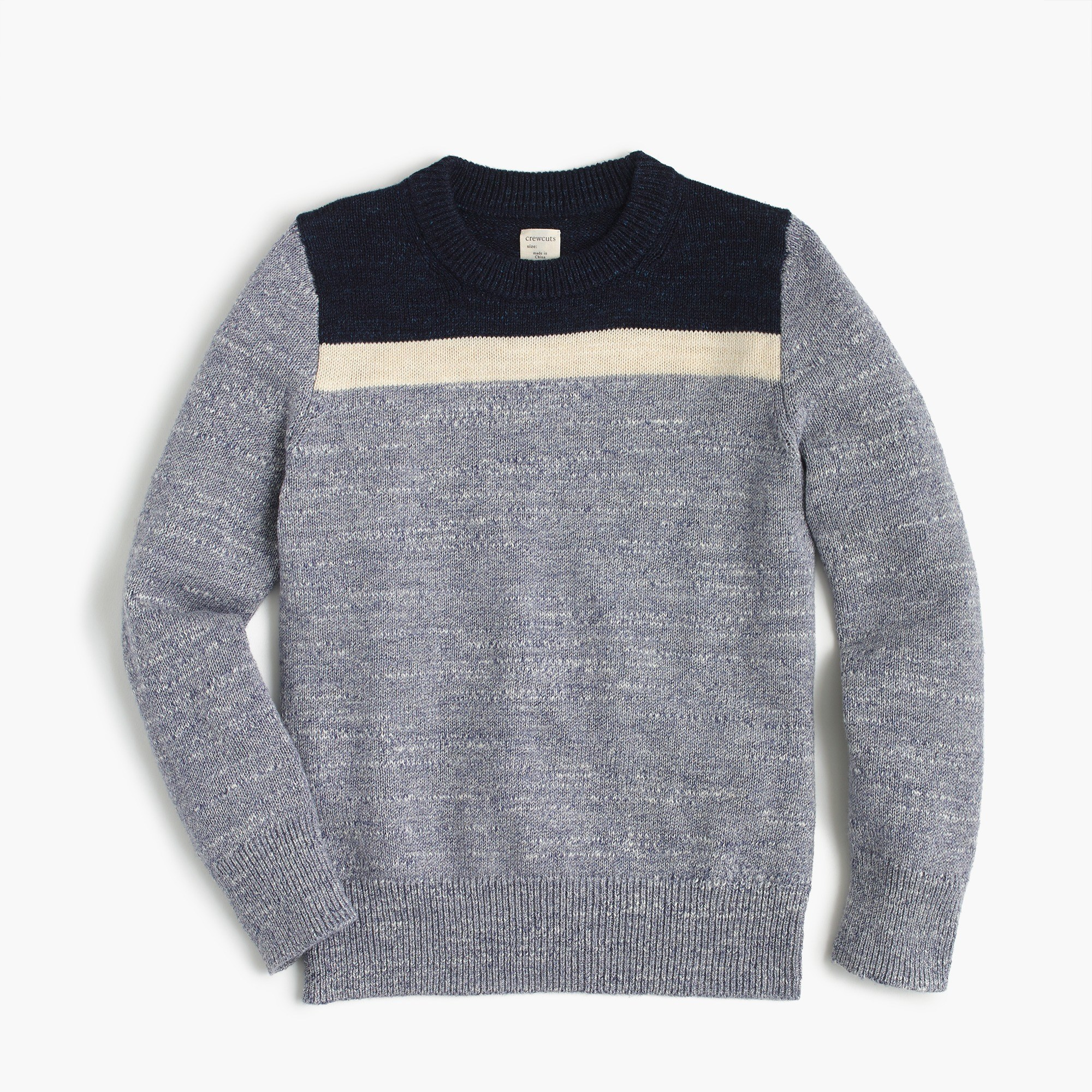 Boys' Colorblocked Cotton Crewneck Sweater - Boys' Sweaters | J.Crew
