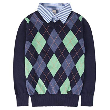 Amazon.com: Benito & Benita Boys Sweaters V-Neck Faux Layered