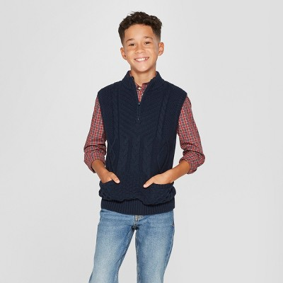 Boys' Sweater Vest Pullover - Cat & Jack™ Navy : Target