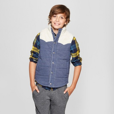 Boys' Sherpa Lined Fashion Vests - Cat & Jack™ : Target