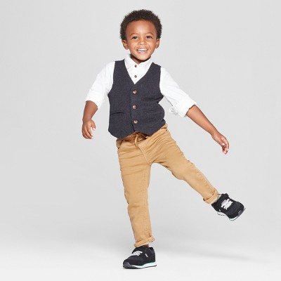 Toddler Boys' Dressy Vest - Cat & Jack™ Charcoal : Target