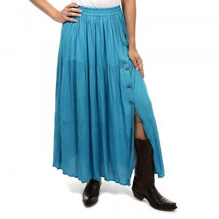Turquoise Broomstick Skirts