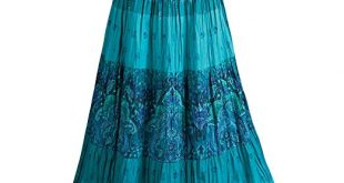CATALOG CLASSICS Women's Peasant Skirt - Tiered Broom Style in