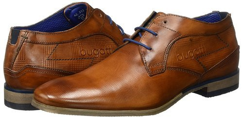 BUGATTI Brown-black Leather Brown Shoes, Size: 6-10, Rs 1100 /pair
