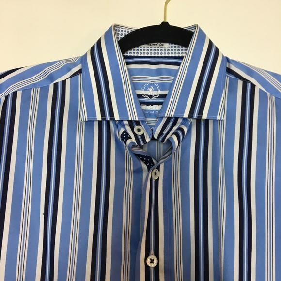 Bugatchi Shirts | Uomo Shirt Mens Striped Multicolor Blue | Poshmark