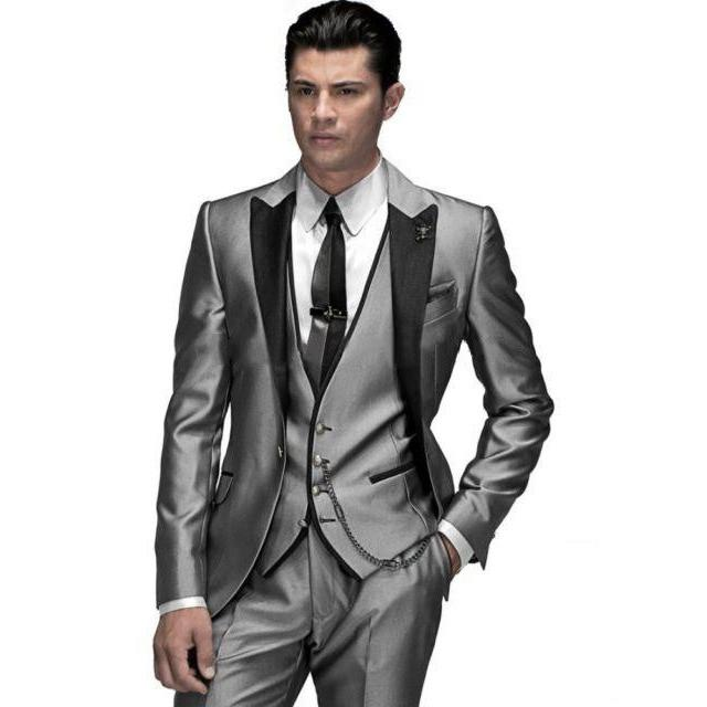 Men business Suits men wedding Suits slim fit fashion black men