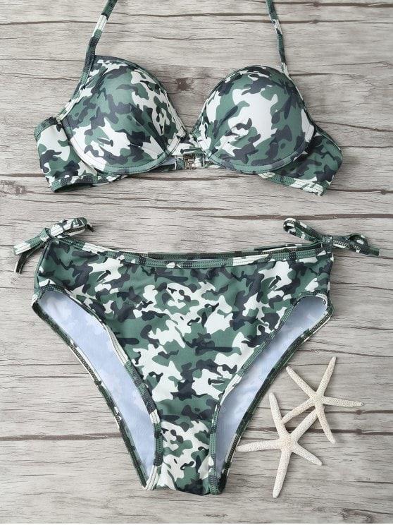 2019 Padded Camo Bikini In CAMOUFLAGE M | ZAFUL