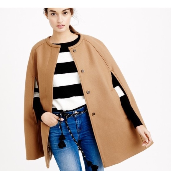 J. Crew Jackets & Coats | J Crew Cape Jacket In Melton Wool Cape