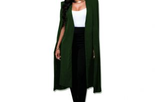 Fashion Blazer Cape Coats Long Solid Cloak OL Blazer Jackets Popular